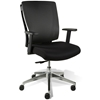 Leona Office Chair - Adjustable Arms, Black Mesh Backrest - UNIQ-X5372