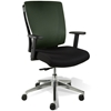 Leona Office Chair - Adjustable Arms, Green Mesh Backrest - UNIQ-X5373