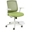 Camilla Mesh Back Office Chair- White Base, Green Upholstery - UNIQ-X5380