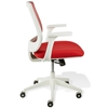 Camilla Mesh Back Office Chair - White Base, Red Upholstery - UNIQ-X5382