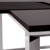 "Professional 71"" Executive Desk - Brushed Aluminum, Espresso Top - UNIQ-X586-ESP"