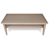 Wood Coffee Table - Lower Shelf - UNIQ-X752