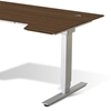 Sit & Stand Adjustable Height Desk - Walnut - UNIQ-X76532-WAL