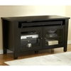 "Modern 55"" TV Cabinet - Tempered Glass Doors, Espresso - UNIQ-X983-ESP"