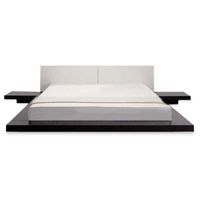 Opal Japanese Style Platform Bed with Nightstands