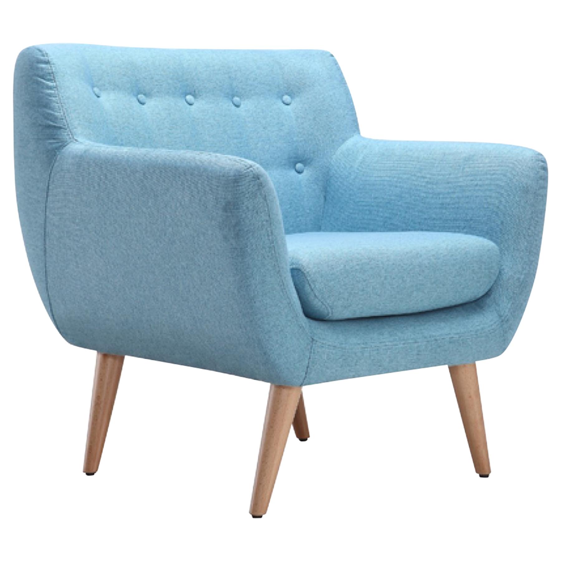 Divani Casa Albany Accent Chair   Blue   VIG VG2T0787 BLU ...