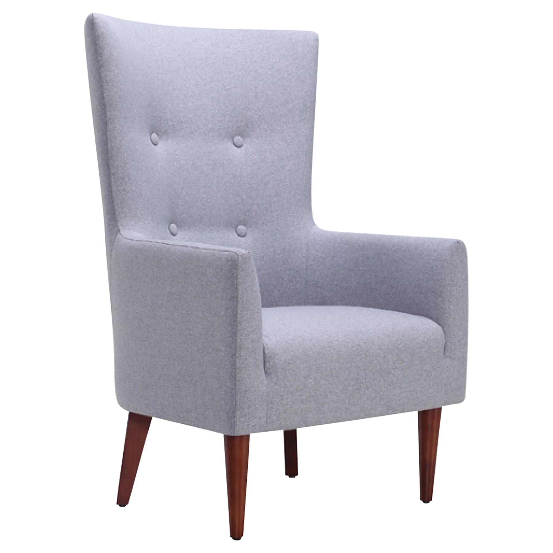 Divani Casa Pacheco Accent Chair   Gray