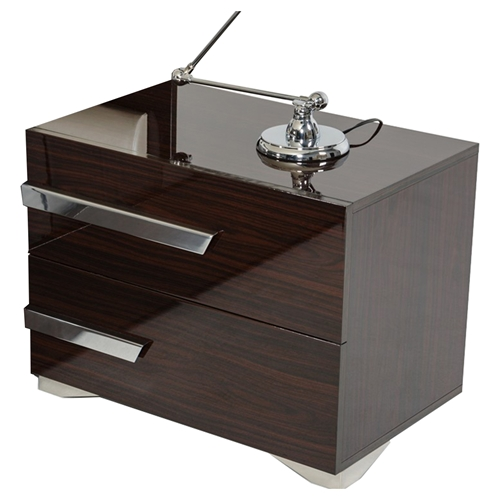 Nova domus romano italian modern nightstand 2 drawers for Romano italian kitchen
