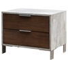 Nova Domus Conner Modern Nightstand - Dark Walnut and Concrete - VIG-VGAN-CONNER-NS-DK