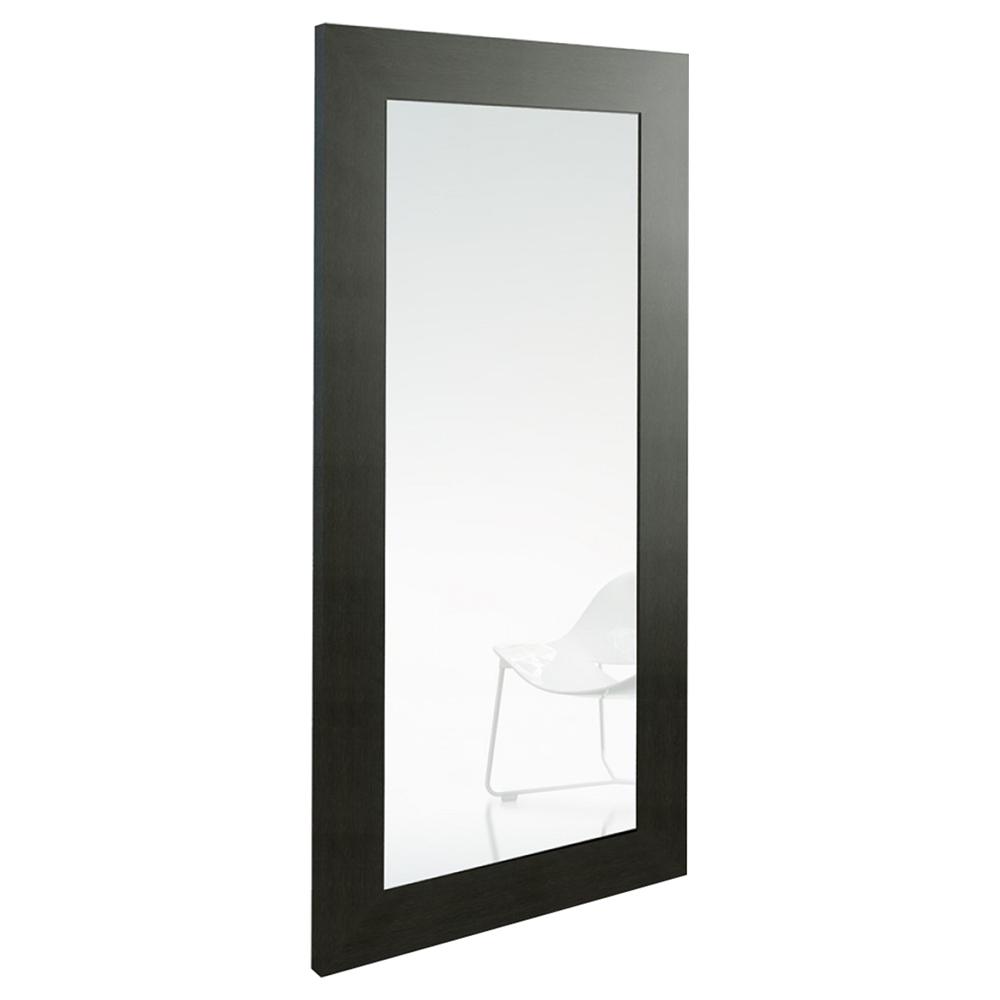 Modrest beth modern rectangular floor mirror wenge dcg for Miroir wenge