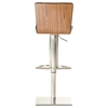 Modrest Dawn Modern Bar Stool - Black and Walnut - VIG-VGBG1409-GB-W-BLK