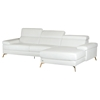Divani Casa Kayla Sectional Sofa - White, Rose Gold - VIG-VGCA1512-WHT