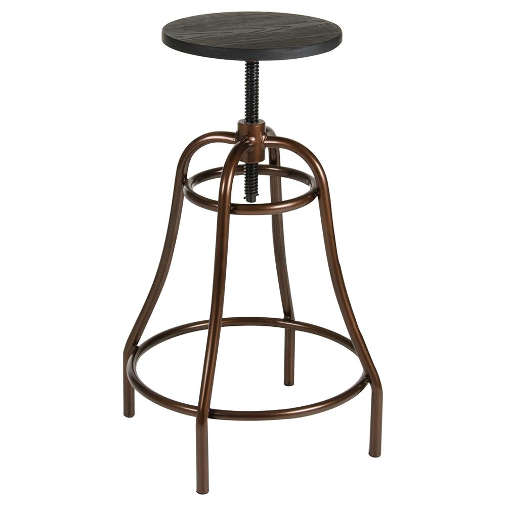 Modrest Fritch Modern Bar Stool Black And Bronze Dcg