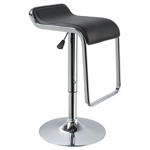 Modrest Mick Bar Stool - Black, Swivel, Adjustable