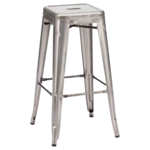 Modrest Detroit Modern Steel Bar Stool - Gray (Set of 2)
