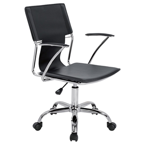 Modrest Emery Office Desk Chair - Adjustable Height, Black
