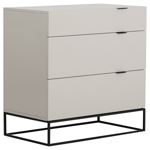 Modrest Hera Modern Dresser - 3 Drawers, Gray
