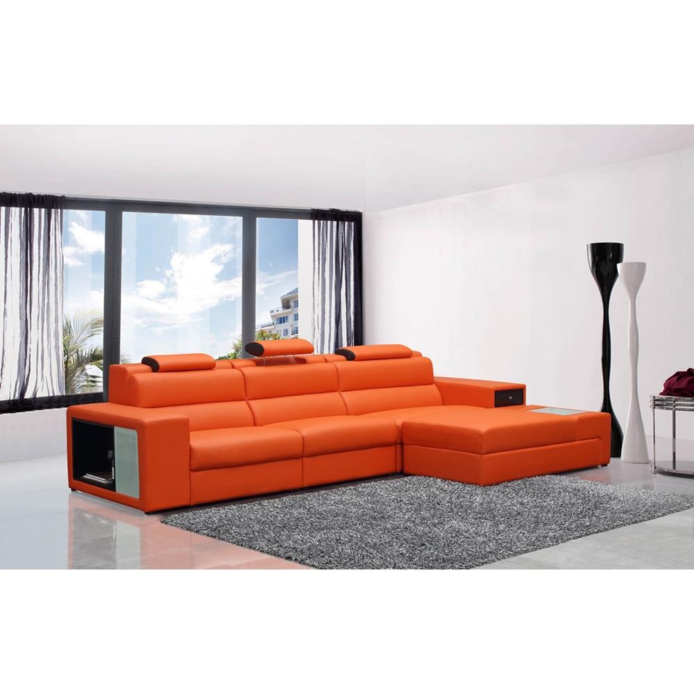 Divani Casa Polaris Mini Sectional Sofa - Lighting