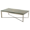 Modrest Santiago Modern Coffee Table - Brown and Chrome - VIG-VGEWF1193-2AB