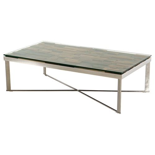 Modrest Santiago Modern Coffee Table Brown And Chrome Dcg Stores