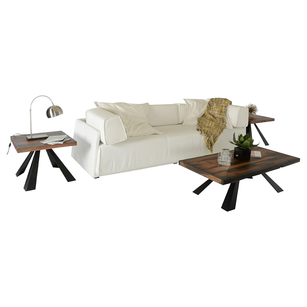 Modrest Norse Modern Rectangular Coffee Table Brown And Black Dcg Stores