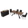 Modrest Norse Modern Rectangular Dining Table - Brown and Black - VIG-VGEWF2196ALA