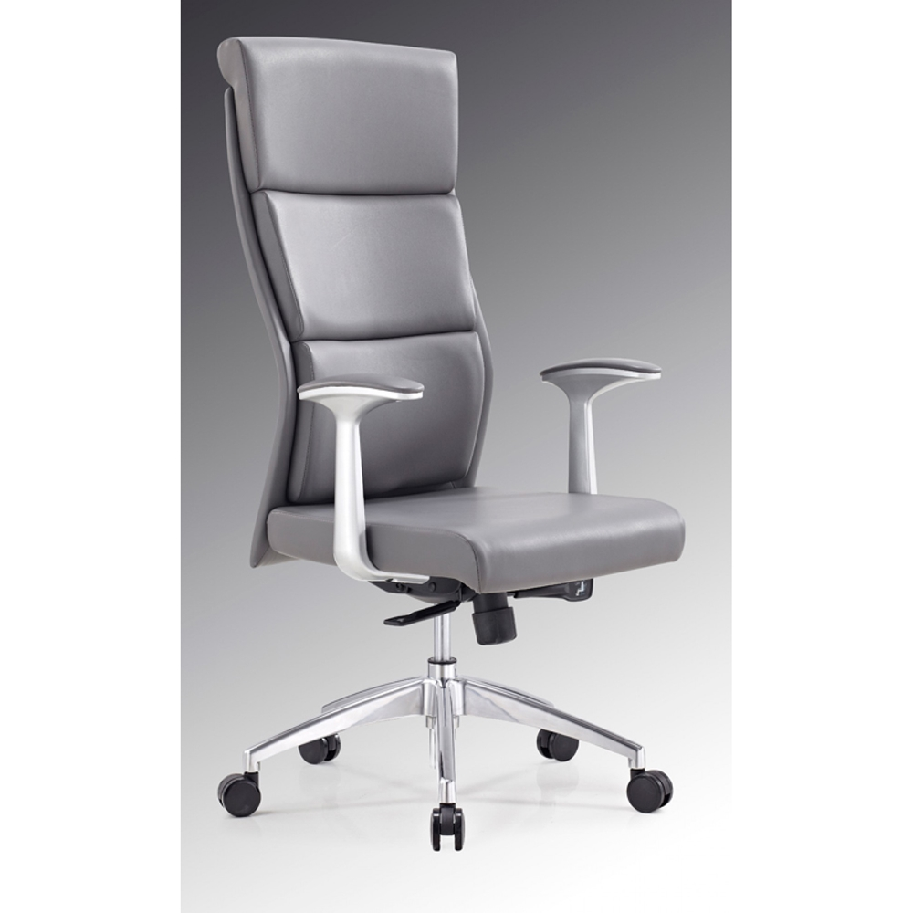 Modrest Ellison Modern High Back Office Chair Gray Dcg
