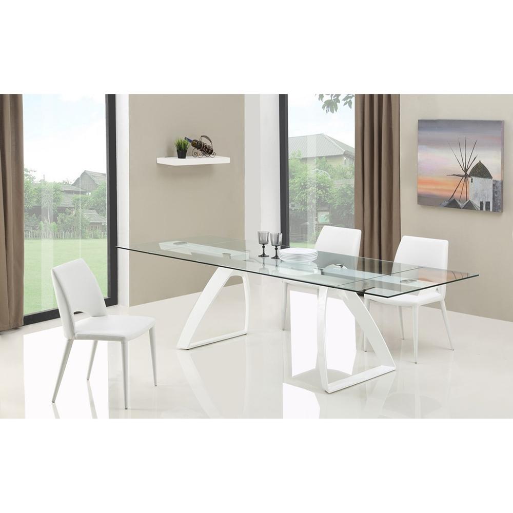 Modrest Harvey Modern Extendable Glass Dining Table  : vggldt g413 4 from www.dcgstores.com size 1000 x 1000 jpeg 273kB