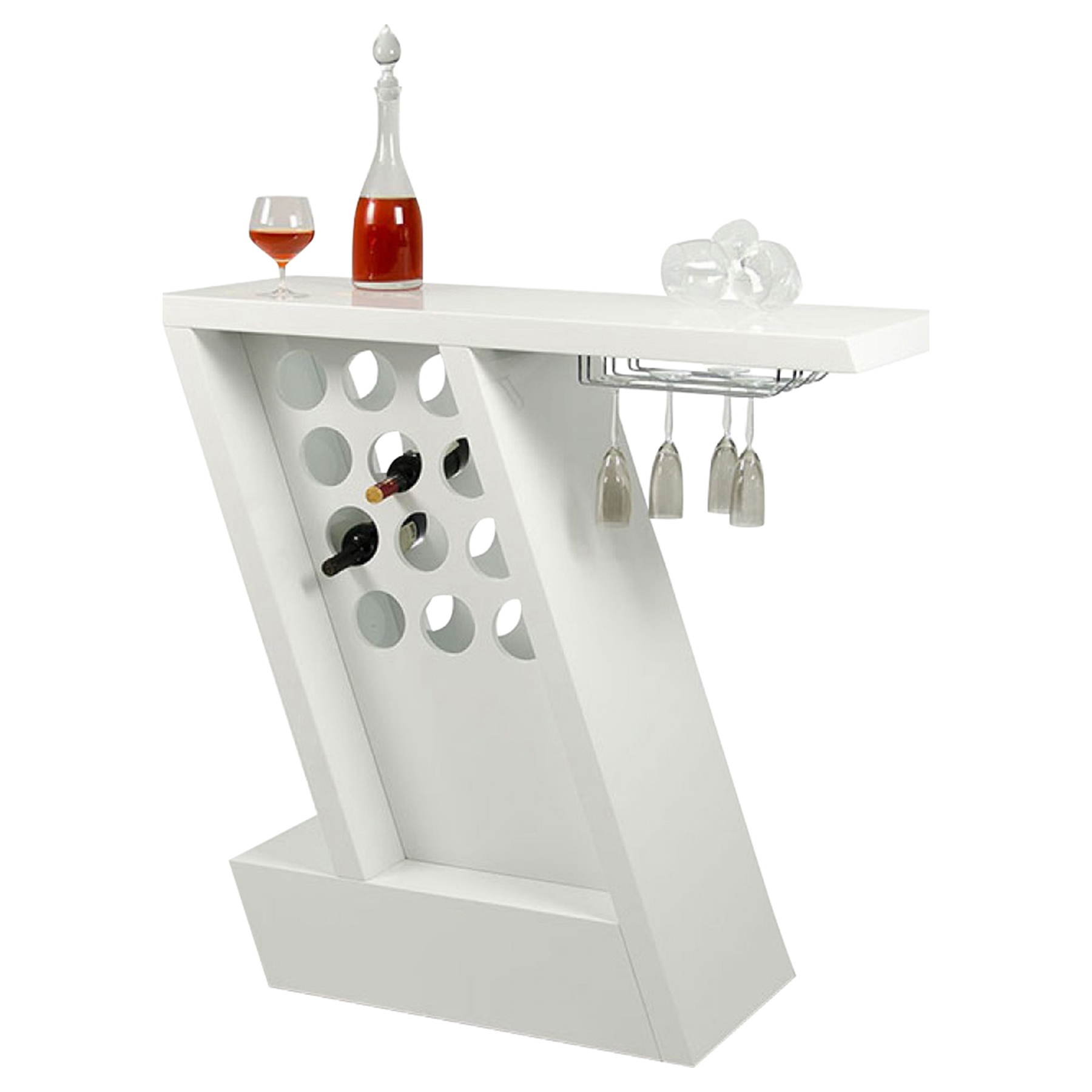 Modrest Zin Bar Unit   White