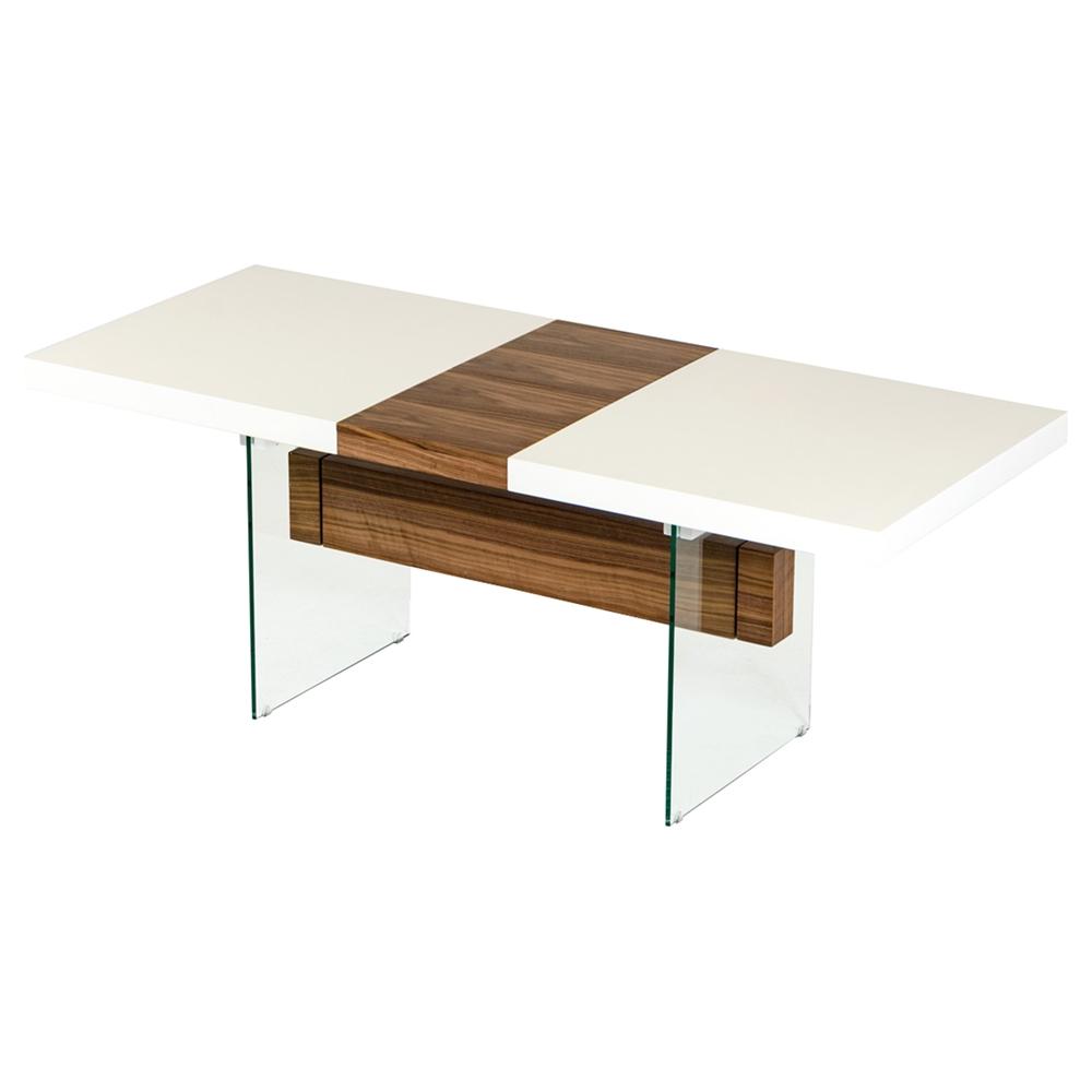 Modrest Sven Extendable Dining Table White Walnut Dcg