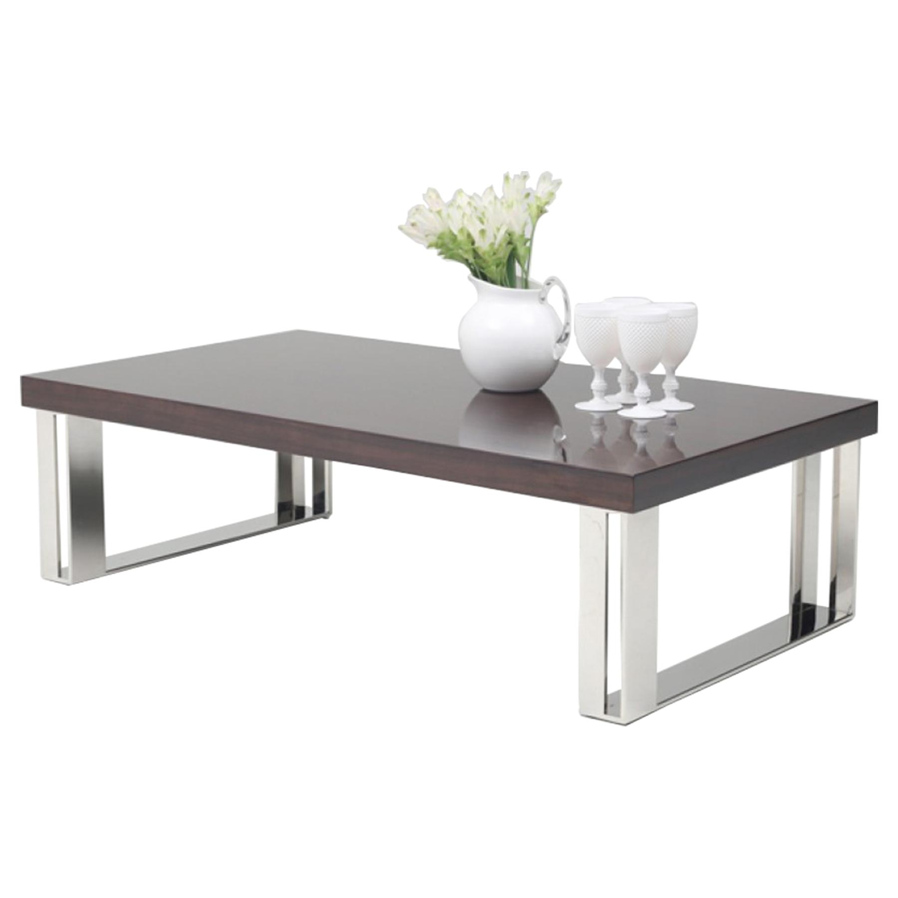 modrest courtland modern rectangular coffee table golden