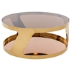 Modrest Chandon Modern Round Coffee Table - Gold - VIG-VGHBN931E