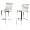 Modrest Shasta Bar Stool - White, Chrome (Set of 2) - VIG-VGHR5011B-WHT