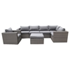 Marvelous Renava Catalina 7 Pieces Outdoor Sectional Sofa Set Gray Squirreltailoven Fun Painted Chair Ideas Images Squirreltailovenorg