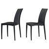 Renava Bistrot Modern Patio Dining Chair - Charcoal - VIG-VGIGBISTROT-SIDE
