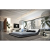 Marquee Platform Queen Bed with LED Lights - Black, White - VIG-VGINMARQUEE-Q