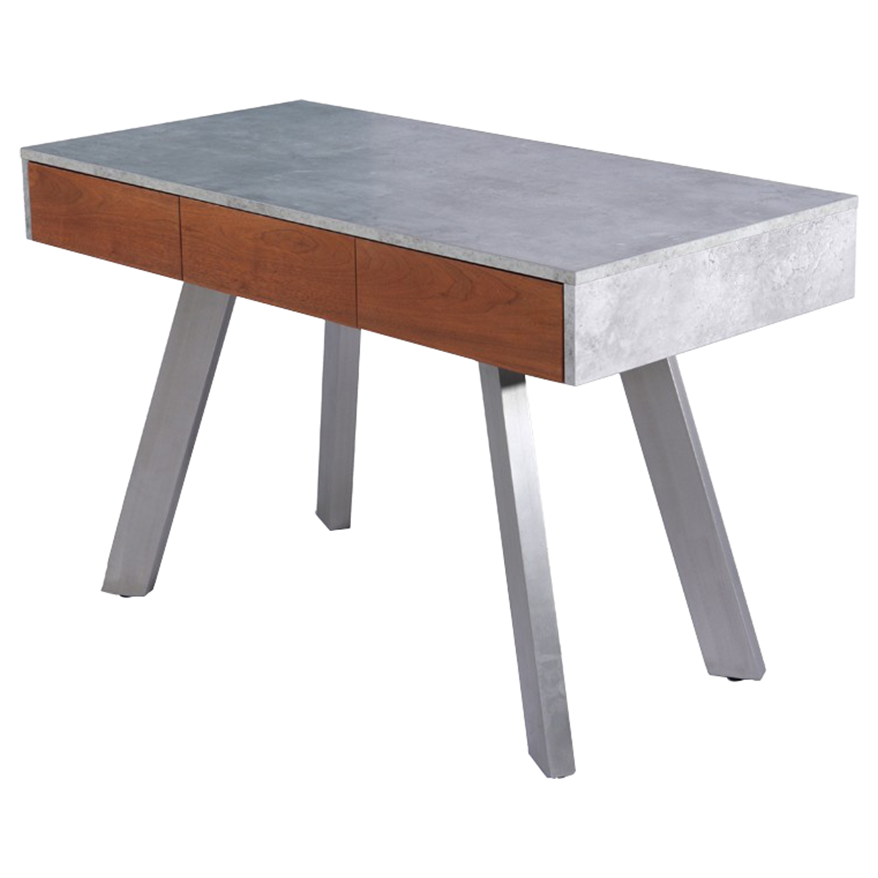 Modrest Austin Desk   Concrete And Walnut