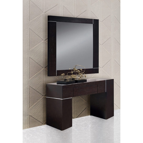 modrest hampton wall console with mirror wenge dcg stores. Black Bedroom Furniture Sets. Home Design Ideas