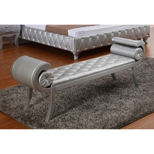 Modrest Monte Carlo Platinum Bench - Silver, Tufted