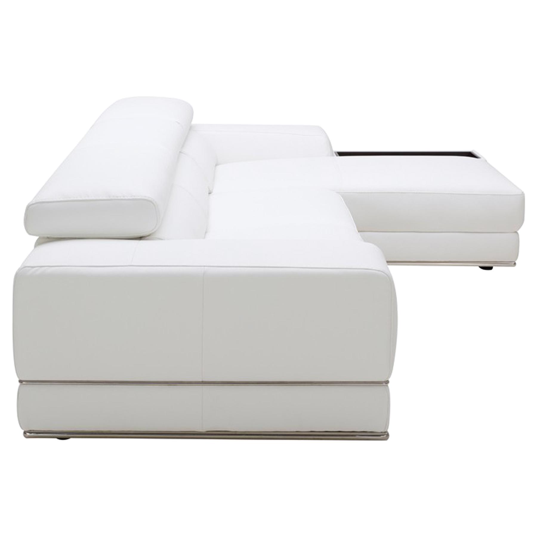 ... Divani Casa Chrysanthemum Mini Sectional Sofa   White   VIG VGKK1576  MINI ECO ...
