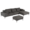 Divani Casa Durant Sectional with Ottoman - Gray - VIG-VGKK2638-GRY