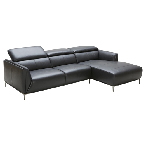 Adjustable Beds In Belfast : Divani casa belfast sectional sofa black adjustable