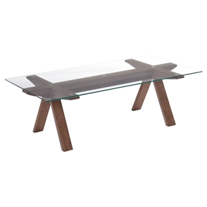 Modrest Maddox Coffee Table - Walnut