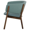 Modrest Dante Modern Accent Chair - Blue and Walnut (Set of 2) - VIG-VGMAMI-435-BLU