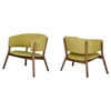 Modrest Dante Modern Accent Chair - Gold and Walnut (Set of 2) - VIG-VGMAMI-435-GLD
