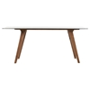 Modrest Zeppelin Dining Table - Walnut, Smoked Glass - VIG-VGMAMIT-1111