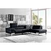 Divani Casa Arden Sectional Sofa Black Adjustable Headrests Dcg