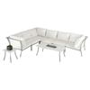 Renava Ibiza Outdoor Sectional Sofa Set - White