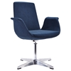 Modrest Dacia Modern Fabric Accent Chair - Blue - VIG-VGOBTY67-BLU