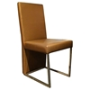 A&X Modern Leatherette Dining Chair - Gold (Set of 2) - VIG-VGUN0099-2